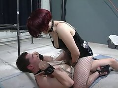 Dominatrix slut teases starring role unstiffened