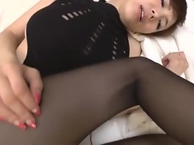Japanese mature sombre pantyhose coition