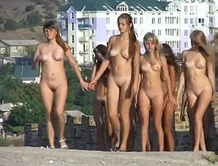 young nudists strolling 2