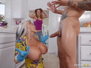 Super full-grown granny Sally D'angelo plays with cum in the sky the brush huge heart of hearts